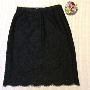 Lace skirt Black fully lined Caslon 6 petite